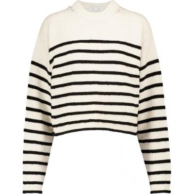 プロエンザ スクーラー Proenza Schouler レディース ニット・セーター トップス white label striped cotton-blend sweater Off White/Black