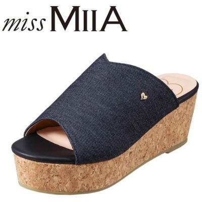 ミーア MIIA MA7000 レディース | サンダル | 厚底サンダル | ウェッジソール | クッション インソール | ネイビー