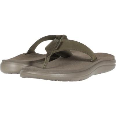 テバ Teva レディース ビーチサンダル シューズ・靴 Voya Flip Leather Burnt Olive