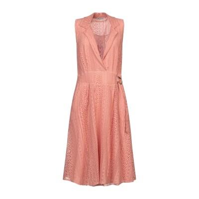 PAOLO CASALINI 7分丈ワンピース・ドレス ローズピンク S コットン 65% / ナイロン 35% 7分丈ワンピース・ドレス