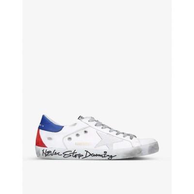 ゴールデン グース GOLDEN GOOSE メンズ スニーカー シューズ・靴 Superstar distressed leather trainers WHITE/OTH