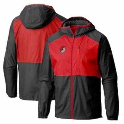Columbia コロンビア スポーツ用品  Columbia Portland Trail Blazers Black Flash Forward Full-Zip Windbreaker Jacket