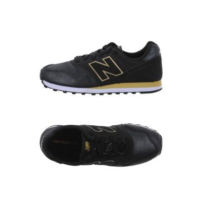 ニュー・バランス NEW BALANCE スニーカー&テニスシューズ(ローカット) ブラック 6 革 / 紡績繊維 スニーカー&テニスシューズ(ロー