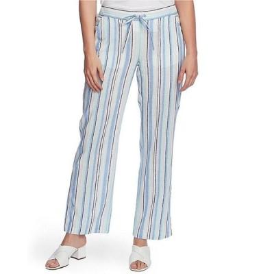 ヴィンスカムート レディース カジュアルパンツ ボトムス Drawstring Waist Wistful Stripe Linen Blend Pant