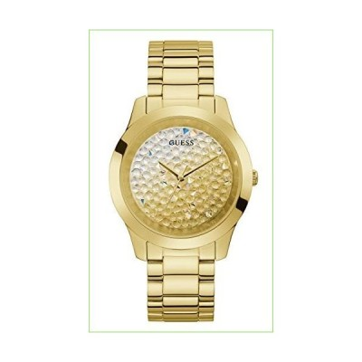 GUESS Women's Analog Watch with Stainless Steel Strap, Gold, 20 (Model: GW0020L2)「並行輸入品」