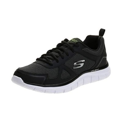 Skechers Sport Men's Track Oxford,Black/White,9 M US