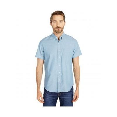 J.Crew メンズ 男性用 ファッション ボタンシャツ Short Sleeve Lightweight Chambray Button-Down - Chambray Blue