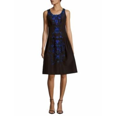 キャロライナヘレラ レディース ワンピース Floral Silk Knee-Length Dress