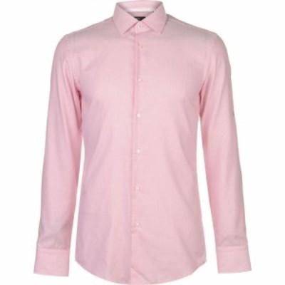 ヒューゴ ボス Boss メンズ シャツ トップス Long Sleeved Shirt Red