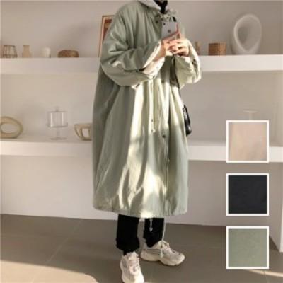 韓国 ファッション レディース アウター コート 春 秋 冬 カジュアル naloJ195  ボア ジップ ビッグシルエット スポーティ シンプル コー