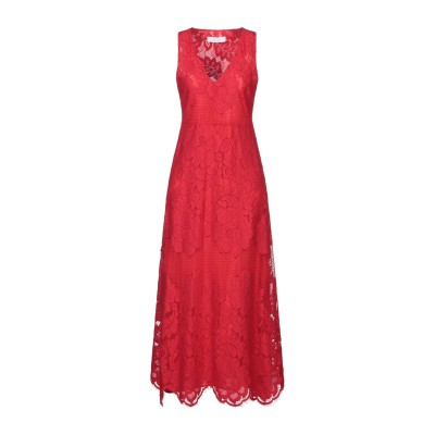 カオス KAOS ロングワンピース&ドレス レッド 44 ナイロン 65% / コットン 35% ロングワンピース&ドレス