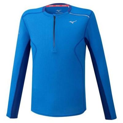 ドライエアロフローハーフジップシャツ(メンズ) MIZUNO ミズノ ランニング ウエア ランニングシャツ (J2MA0520)