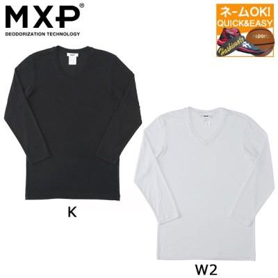 ◇ネーム刺繍OK MXP メンズ Tシャツ リュクセルウォーム Vネック8分袖シャツ MX15342
