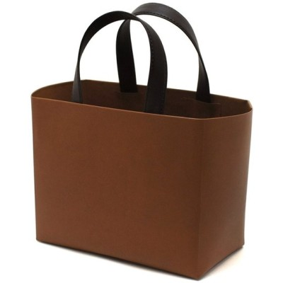 お手入れいらずの リサイクルレザー ミニショッピングバッグ (キャメル)