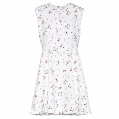 カルヴェン Carven レディース ワンピース ミニ丈 ワンピース・ドレス Printed crepe mini dress Blanc/Multicolo