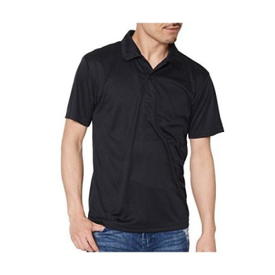 ティーシャツドットエスティー ポロシャツ ドライ 半袖 無地 薄手 3.5oz メンズ ブラック L