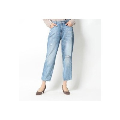 ゲス GUESS JACQUELINE RELAXED WIDE-CROPPED DENIM PANT (LINCOLN ROAD)