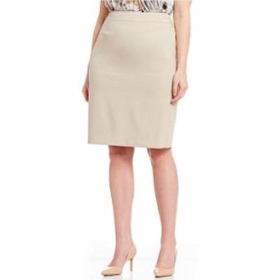 カルバンクライン レディース スカート ボトムス Plus Pencil Skirt Khaki