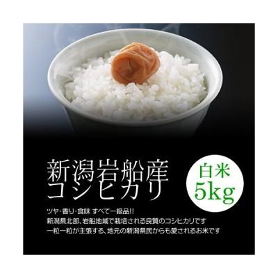 母の日プレゼント・カード付岩船産コシヒカリ 白米(精米) 5kgモチモチ食感が人気の新潟米