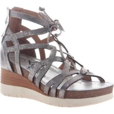 オーティービーティー レディース サンダル・ミュール シューズ・靴 Escapade Gladiator Wedge Silver Leather