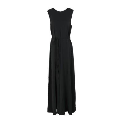 SUOLI ロングワンピース&ドレス ブラック 40 レーヨン 95% / ポリウレタン 5% ロングワンピース&ドレス