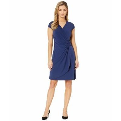 トッミーバハマ レディース ワンピース トップス Carmela Short Sleeve Faux Wrap Dress Island Navy