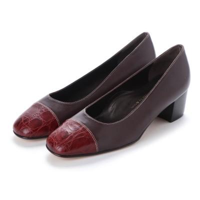 ヨーロッパコンフォートシューズ EU Comfort Shoes looky  スクエアトゥパンプス(4567) (ワイン)
