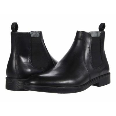 ジョンストンアンドマーフィー ブーツ&レインブーツ シューズ メンズ Maddox Chelsea Boot Black Full Grain Waterproof Leather