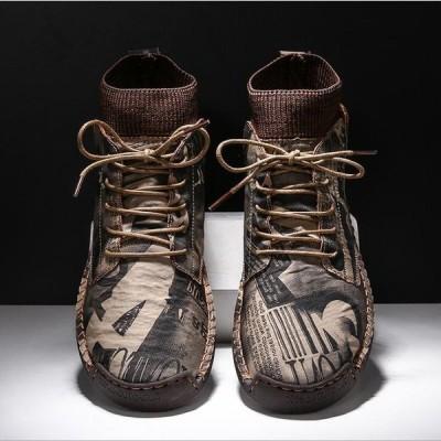 ブーツ おおきいサイズ メンズ マーティンブーツ ハイカット ショートブーツ 耐磨耗 滑り止め 防寒 軽量 おしゃれ かっこいい スニーカー ブーツ 秋冬