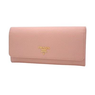 PRADA(プラダ) 2つ折り長財布 ロングウォレット 二つ折り 小物 サフィアーノレザー ORCHIDEA ピンク 1MH132 40800061792【アラモード】