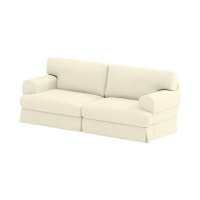 Durabale 高密度コットン 3人掛けホバスソファカバー 交換用 IKEA Hovas 3人掛けスリップカバーのみ対応 コットンベージュ