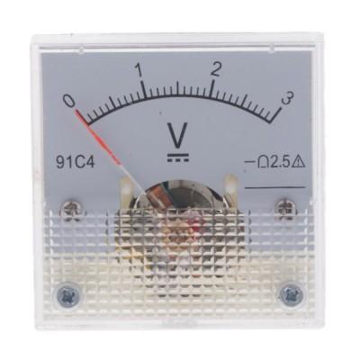 アナログマルチメータ電圧計電流計オームメータアナログマルチメータ - 0-3V