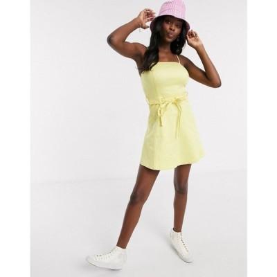 イーストオーダー The East Order レディース ワンピース ミニ丈 ワンピース・ドレス Yellow Mini Dress レモン