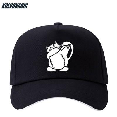 猫 キャット ベース ボール キャップ 野球帽 帽子 スポーツ プリント ロゴ テキスト 刺? デザイン カジュアル ソリッド ハット 男性 女性