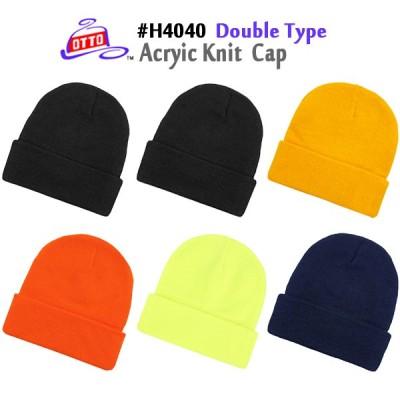 OTTO ACRYLIC KNIT CAP DOUBLE TYPE(アクリルニットキャップ ダブルタイプ)オットーキャップ・ビーニー・ 男女兼用・無地・ニット帽(H4040)