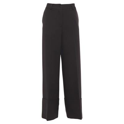 LANACAPRINA パンツ ブラック 46 ポリエステル 92% / ポリウレタン 8% パンツ
