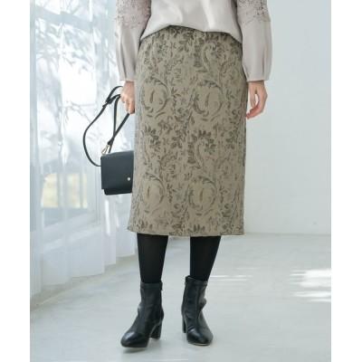 スカート ジャガードアイラインスカート