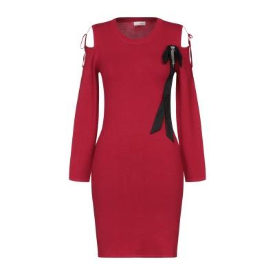 レリッシュ RELISH ミニワンピース&ドレス レッド S レーヨン 80% / ナイロン 20% ミニワンピース&ドレス