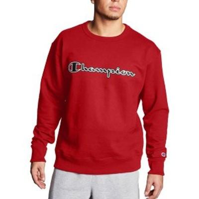 チャンピオン メンズ パーカー・スウェット アウター Champion Men's Powerblend Fleece Script Logo Applique Crewneck Sweatshirt Team