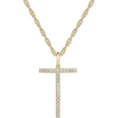 """メイシーズ Macy's ユニセックス ネックレス ジュエリー・アクセサリー diamond initial 18"""" pendant necklace (1/6-1/3 ct. t.w.) in 14k gold"""