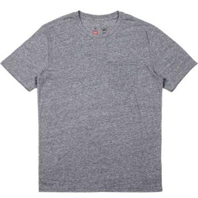 ブリクストン メンズ シャツ トップス Basic Pocket Short-Sleeve T-Shirt - Men's Heather Grey