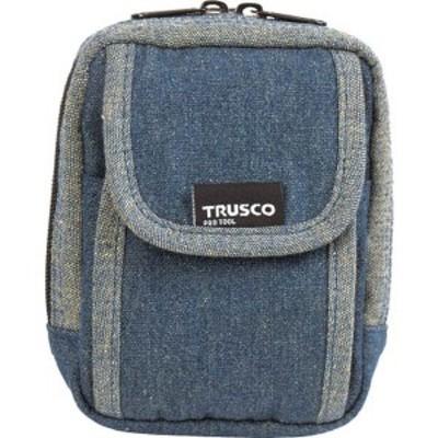 TDCH101  トラスコ中山(株) TRUSCO デニム携帯電話用ケース 2ポケット ブルー WO店