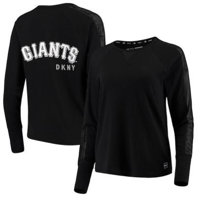 ダナ キャラン ニューヨーク レディース Tシャツ トップス San Francisco Giants DKNY Sport Women's The Gabby Tri-Blend Long Sleeve T-Shirt