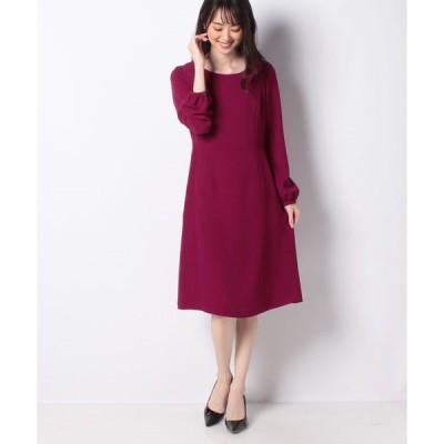 【ミス ジェイ】【洗える】スポンジージョーゼットドレス