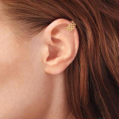 Ross-Simons 14kt Yellow Gold Infinity Single Ear Cuff