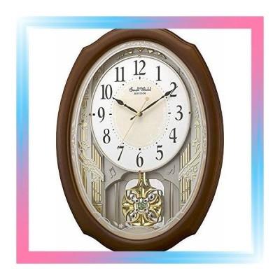 リズム時計 掛け時計 電波 アナログ スモールワールドセレブレ 3