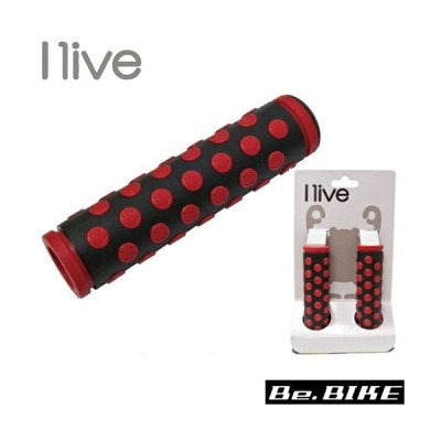 I live スマイルグリップ ブラック/レッド 自転車 グリップ