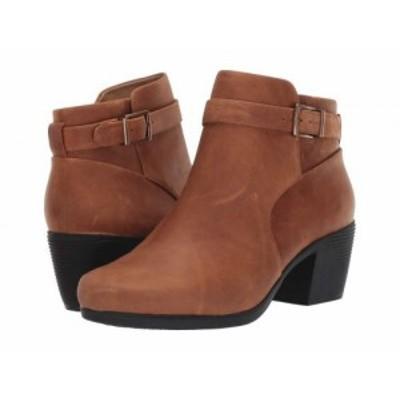 Clarks クラークス レディース 女性用 シューズ 靴 ブーツ アンクル ショートブーツ Un Lindel Lo Dark Tan Oily Leather【送料無料】