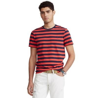 ラルフローレン Tシャツ トップス メンズ Men's Classic-Fit Striped Crewneck T-Shirt Racing Red/french Navy