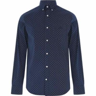 ガント Gant メンズ シャツ トップス Long Sleeve AOP Shirt Blue